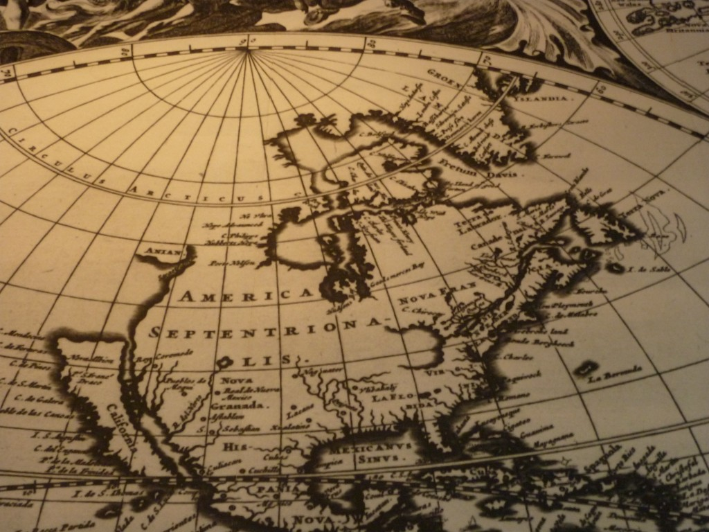 Carte du monde au musée de la Marine
